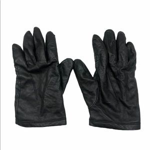 BLACK LEATHER GLOVES SIZE SMALL